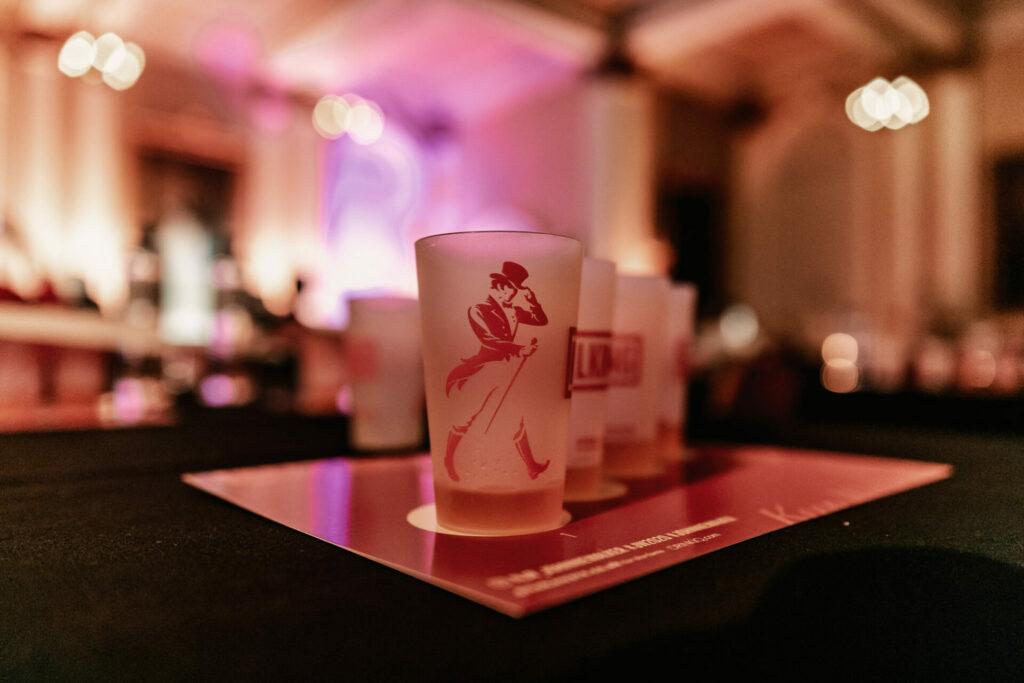 Johnnie Walker branded glassware